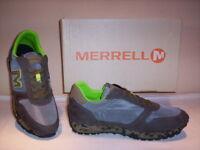 Merrell Vintage Runner scarpe sportive sneakers casual uomo pelle tela grigie 43