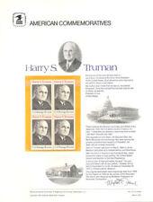 #15 8c Harry S. Truman #1499  USPS Commemorative Stamp Panel