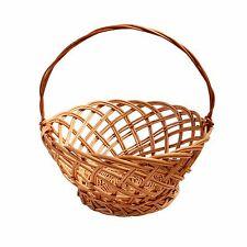 Large Woven Bread Basket Wicker Fruit Storage Hamper With Handle