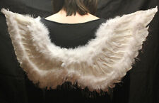 Feather White Angel Wings Large sizes Women Fairy Hen Cosplay Fancy Dress Party
