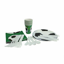 Party Plates Birthday Tableware Set Football Soccer Paper Disposable 56 Pieces