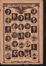 World War I Roll of Honor 1918 Deaths of Heros #8