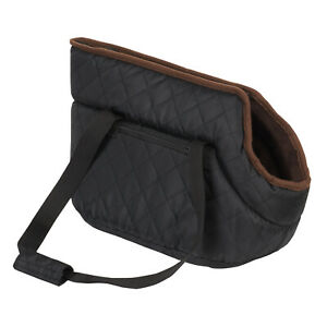 ME & MY PETS LUXURY BLACK QUILTED DOG/PUPPY SMALL SHOULDER/HAND BAG/TOTE CARRIER
