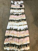 AVA & VIV Size 3X (24/26) NWT Tie Dye Maxi Dress Pink Peach White