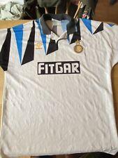 Rare Inter Milan Vintage Football Shirt 1991 1992 Adults Away Italy Xl Fitgar