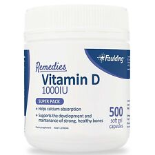 BEST PRICE! FAULDING VITAMIN D 500 CAPS 1000IU OSTELIN BLACKMORES SWISSE