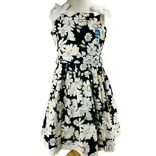 Childrens Place Dress Size 6 Daisy Sleeveless Fit n Flair Fully Lined Black NWT