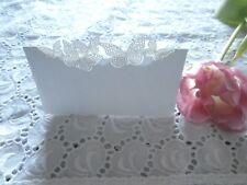10x Tischkarte Hochzeit, Kommunion, Konfirmation, Schmetterling edel