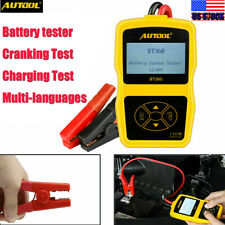 12V Automotive Car Battery Tester Charging Cranking Test Analyzer 100-2400CCA
