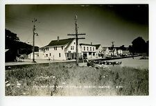 Lincolnville Beach RPPC Storefronts—Mobil Service Station—General Store 1940s