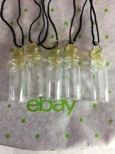 Glass Pendant Bottle Vial Locket Ashes Perfume Spells Rice Rubbe Cap Necklace