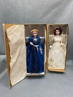 Lot Of 2 Gene Ashton Drake Dolls Wedding Bride Blue Dress In Box