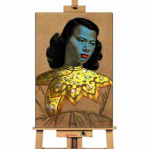 Green Lady Chinese Girl Vladimir Tretchikoff Portrait canvas wall art print