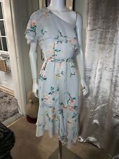 WAREHOUSE BLOSSOM ONE SHOULDER DRESS SIZE 12 BNWTS