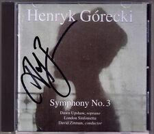 David ZINMAN Signiert Henryk GORECKI Symphony No.3 DAWN UPSHAW CD Nonesuch 1992