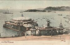 """""""Hundred Year old photo postcard from collection"""" Hoe Pier Plymouth"""