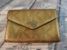 Michael Kors Signature MK Credit Card Holder Gold