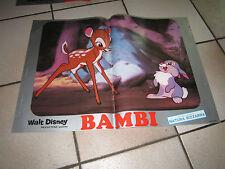 FOTOBUSTA  BAMBI WALT DISNEY ANIMAZIONE