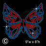 Butterfly Rhinestone/Diamante Transfer Hotfix Iron on Motif Applique + Free Gift