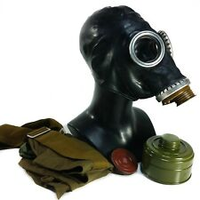 Genuine Soviet Russian gas mask Gp-5 Black Ussr face mask respiratory Xsmall New