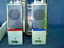 2 VINTAGE LAFAYETTE RADIO ELECTRONICS  DYNA-COM 5 watt  3 CHANNEL WALKIE TALKIES