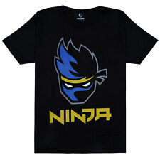 Official Kids Ninja Face Logo T-Shirt Boys Girls Gaming Gamer
