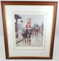 Malcolm Coward S.E.A. Limited Edition Signed Print Horse Racing Jockey Framed
