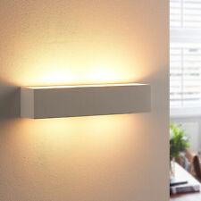 LED-Wandleuchte Tjada 35 cm Gips G9 LED Wandlampe Lampenwelt Schlafzimmer Weiß