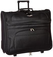 Rolling Garment Bag Business Suitcase Luggage Wheels Black