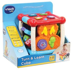 NEW Vtech Turn & Learn Cube from Mr Toys