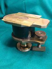 Vintage Microscope Microscopy Brass, Bench Clamp Microtome