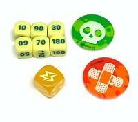 Pokemon Rebel Clash Dice Set - Damage Counters / Poison & Burn Markers - Sealed