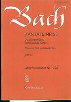 "J. S.Bach ~ Kantate Nr. 23 "" Du wahrer Gott und Davids Sohn "" - Klavier-Auszug"