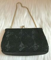Walborg Vintage Evening Purse, Hand Beaded in Hong Kong, Glass Beads - Clutch