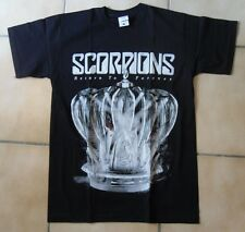 SCORPIONS RETURN TO FOREVER T-SHIRT NOIR COL ROND MANCHES COURTES COTON TAILLE S