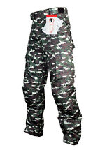 ITL Motorcycle Pants - Green Camo; Size XL