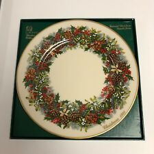 Lenox 1981 Colonial Christmas Wreath Virginia Plate