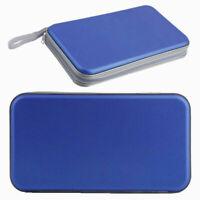 Zipper Blue 80 Sleeve CD DVD Blu Ray Disc Carry Case Holder Bag Wallet Storage