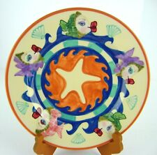 Katherines Collection At Silver Lake PLATE Kissing Fish 2001 Waves Starfish 10""