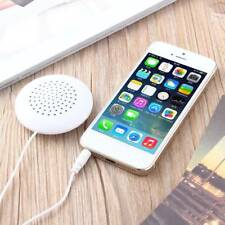 Mini White 3.5mm Pillow Speaker for MP3 MP4 Player IPhone IPod CD Radio New
