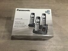 Panasonic KX TGE233 B Digital Cordless Answering Three Handset Phone System
