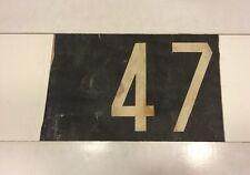 "Dublin Ireland Bus Blind 17"" x 11""- Very Rare Transport History Number - 47"