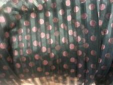 "Black Dusty Rose Polka Dot sew on Stripped Tulle Fabric 60"" great 4 evening prom"