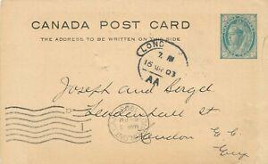 CANADA 1905 POSTAL STATIONERY POSTCARD #P17 !! D78