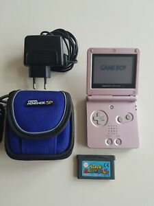 Nintendo Game Boy Advance SP Pink mit Mario Balls und Ladekabel Handheld