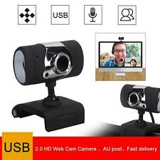 HD Camera Webcam with Microphone for Computer PC Laptop Desktop USB 2.0 AU Stock