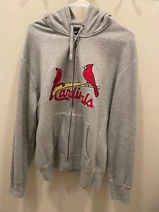 NIKE St. Louis Cardinals Birds on the Bat Zip Up Hooded Sweat shirt  Size L NEW
