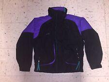 VTG Columbia Powder Keg Ski Snowboard Jacket Mens 3 in 1 Black Purple Teal Sz M