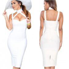 Vendaje Blanco Estilo Celebridad Vestido Ceñido al cuerpo de Reino Unido, S, M, L