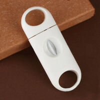 Stainless Steel Blade V-Cut Tobacco Cigarette Cigar Cutter Ring Gauge White 17